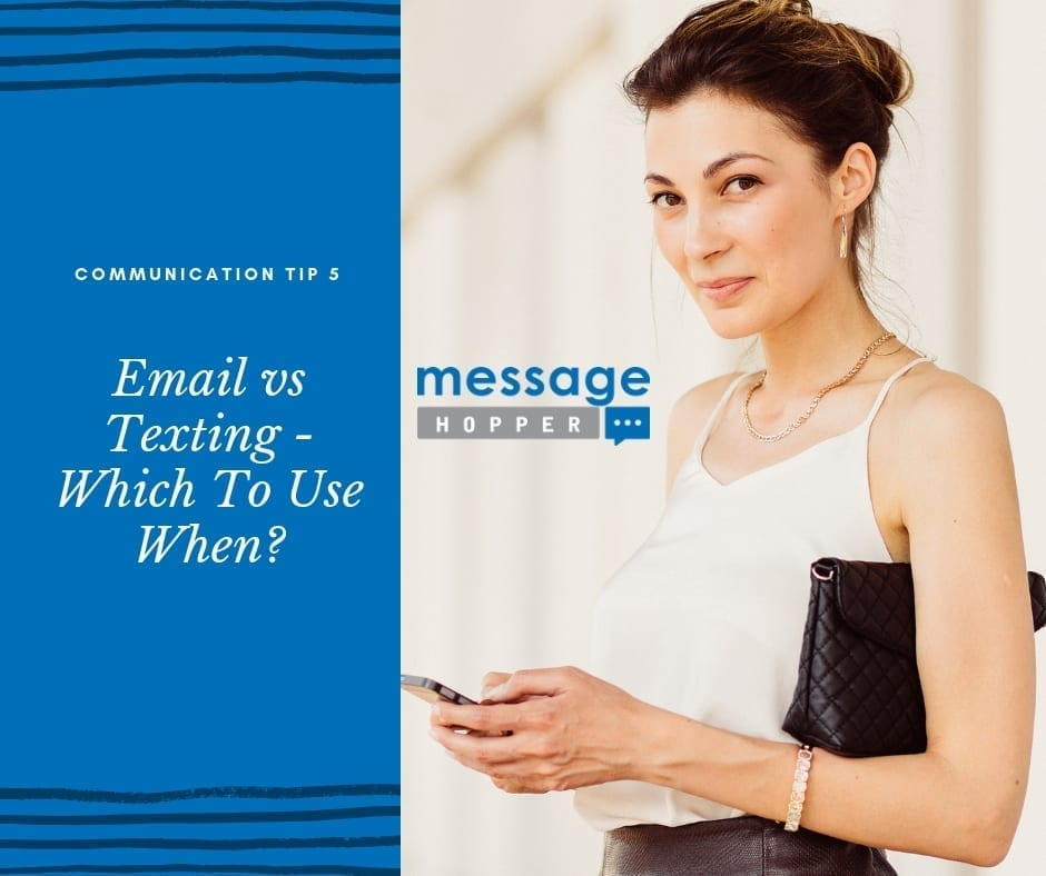 email vs texting which to use when message hopper